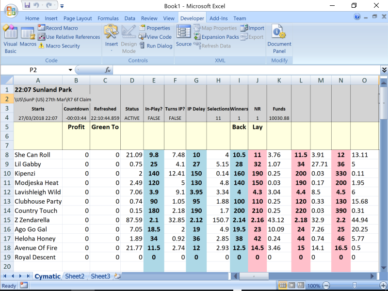 Advanced Cymatic Trader - Ultra Fast Trading Software for Betfair